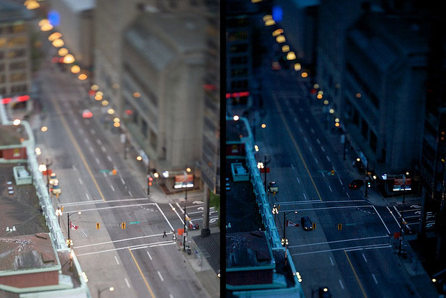 day and night of a street photographed