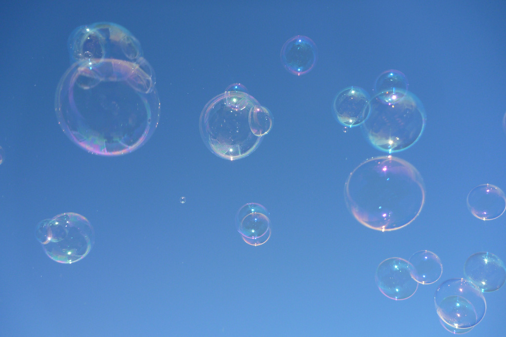 bubbles floating in the air