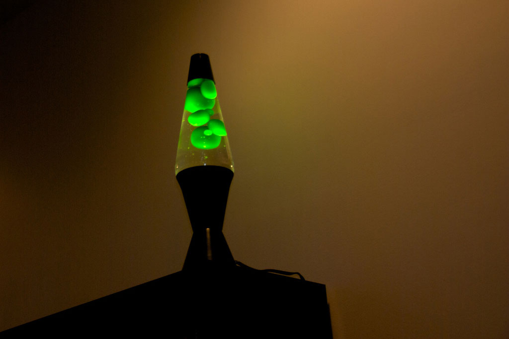 lava lamp in shadow