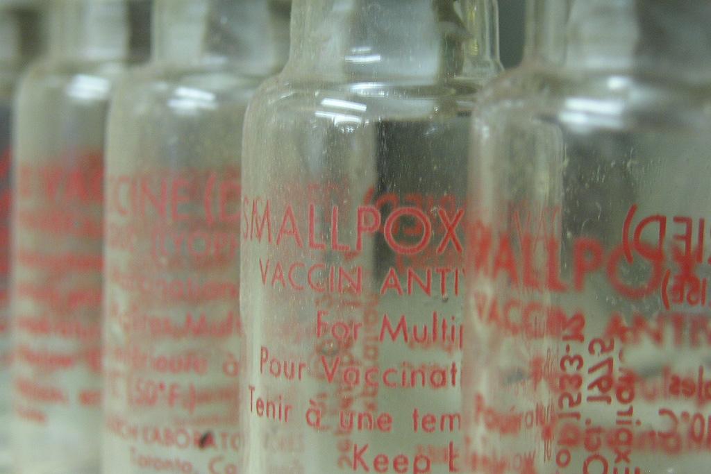 jars of the smallpox vaccine