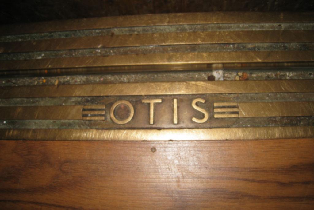 Otis elevator mark in old elevator