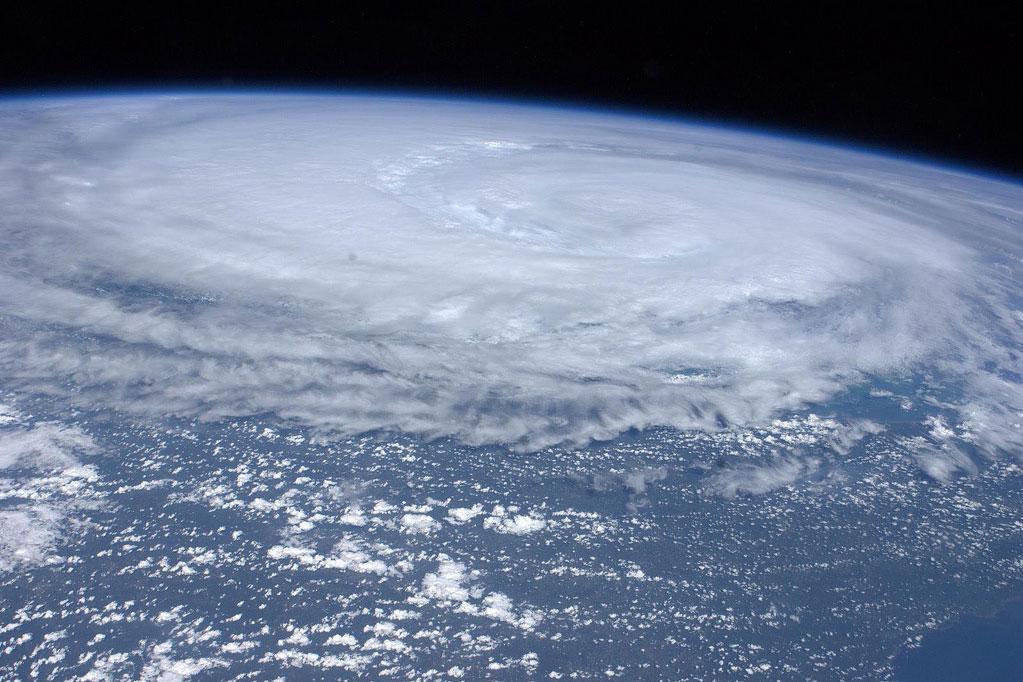 hurricane irene from space