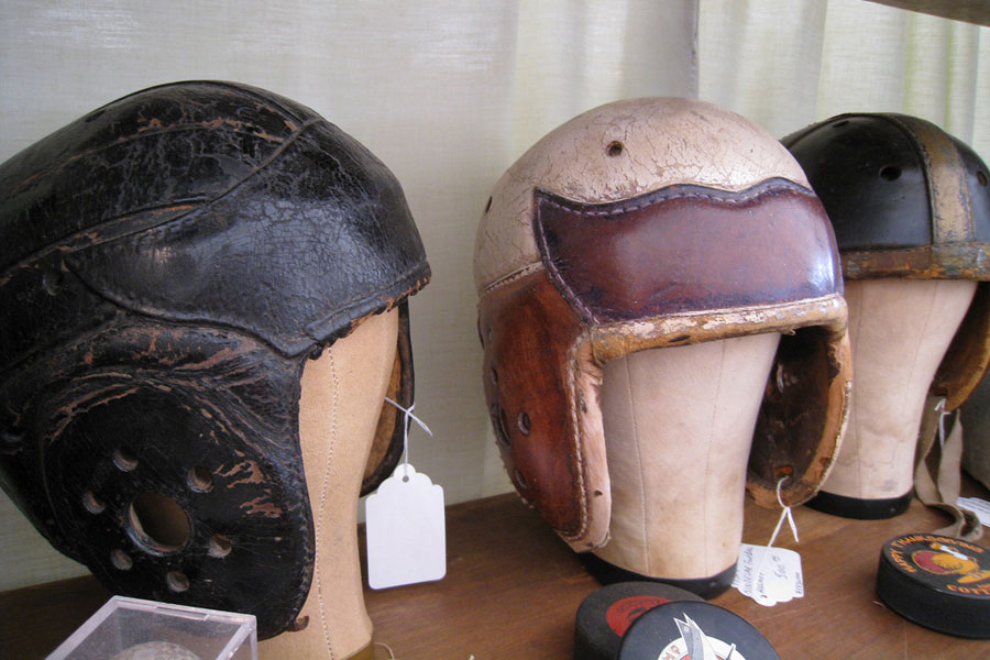old style leather helmets for football