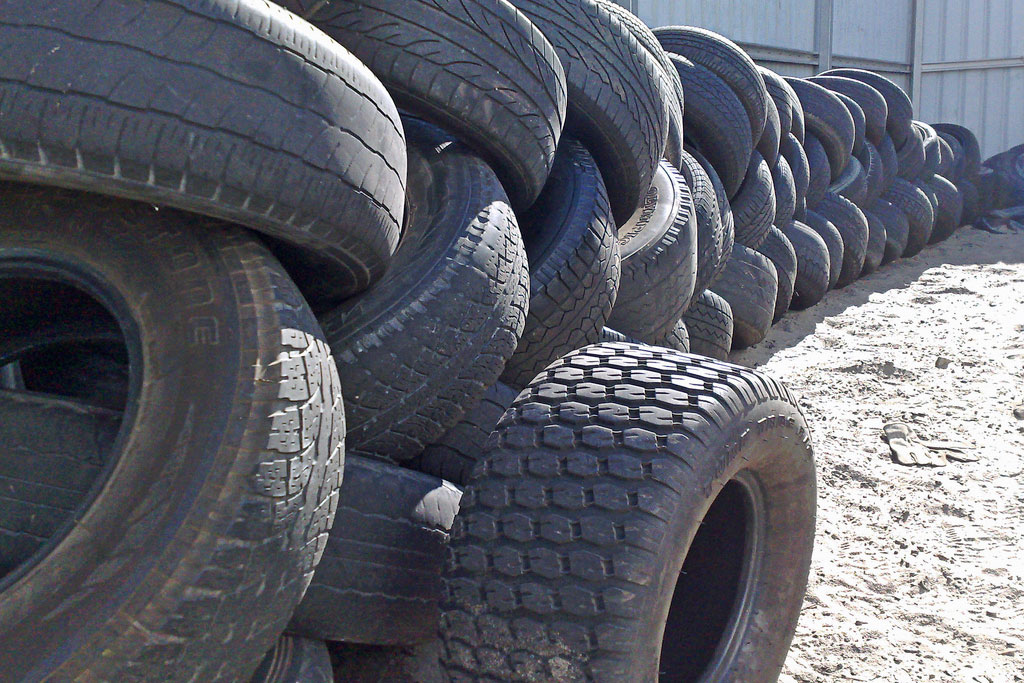 tires in a tire yard