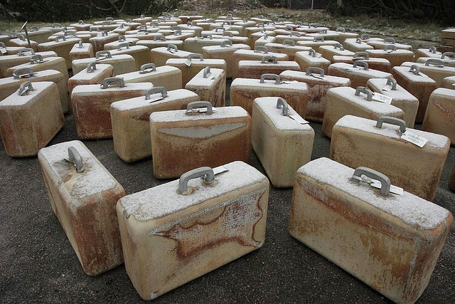 suitcases made of ivory
