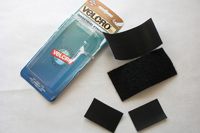 a collection of velcro