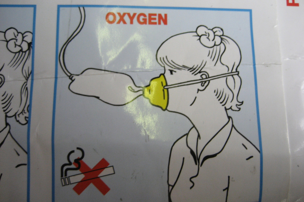 picture of woman with oxygen mask on