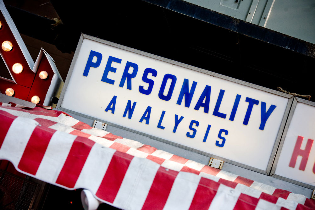 A commercial storefront for PERSONALITY ANALYSIS services