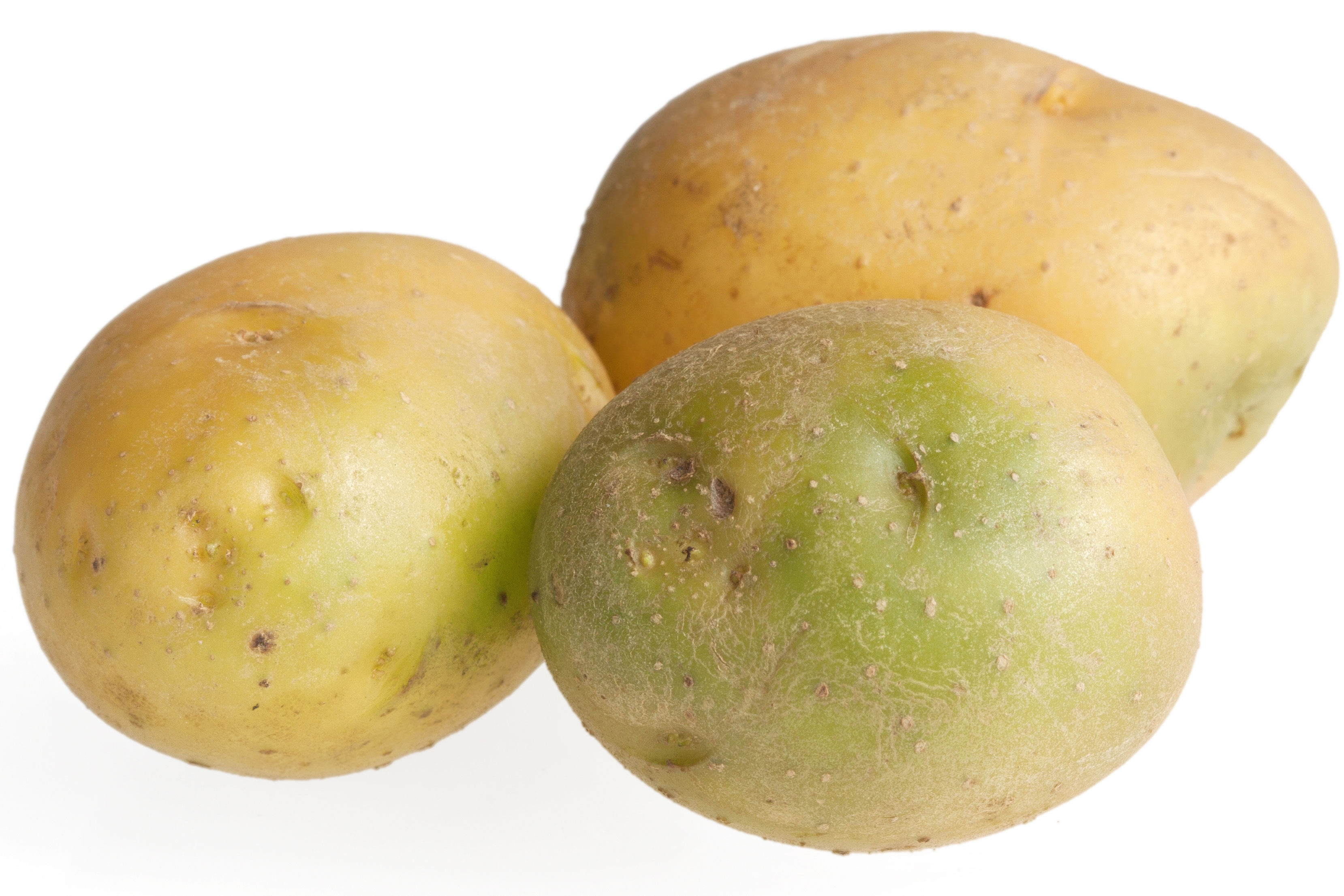 3 green potatoes