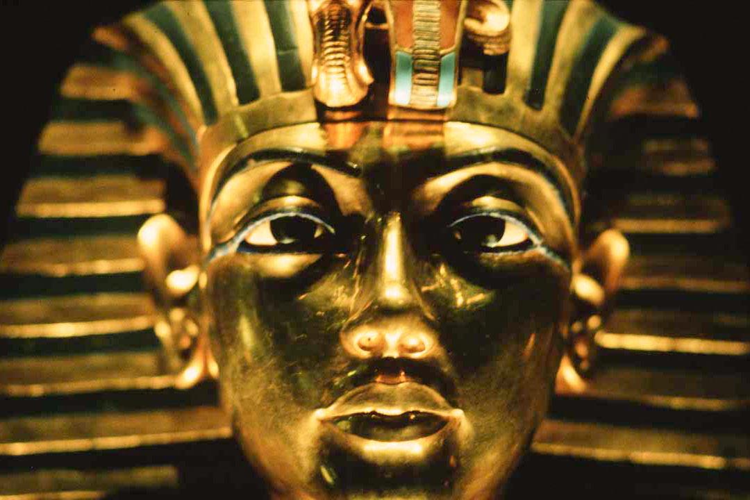 King Tut's iconic golden mask