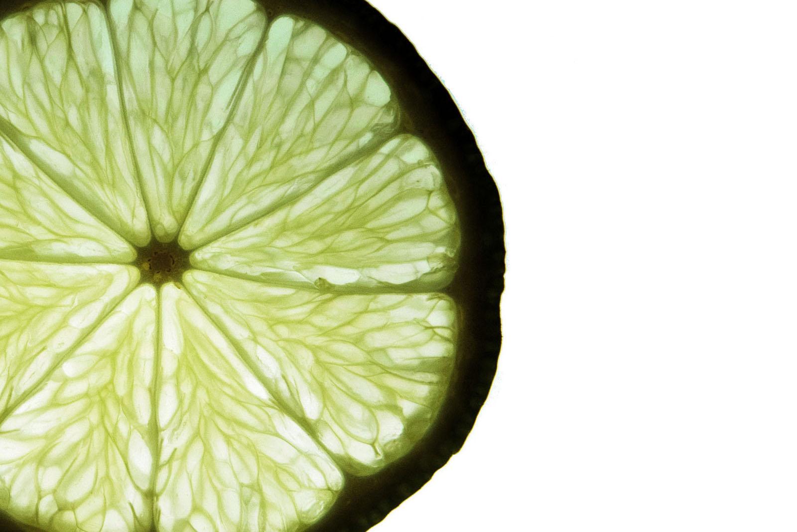 a lime slice