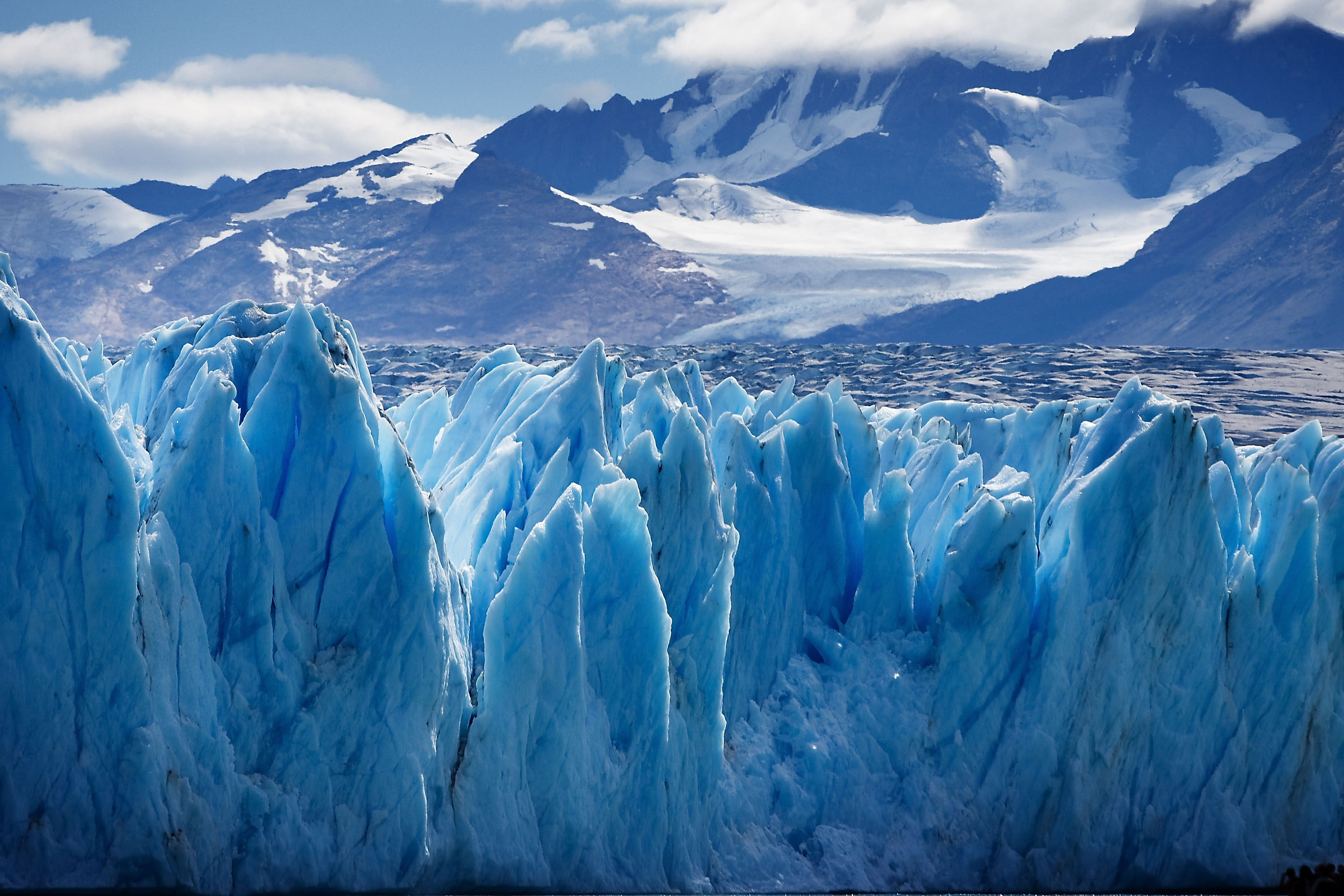 The Upsala Glacier is in the Southern Patagonia Ice Field. (David, Wikimedia Commons)