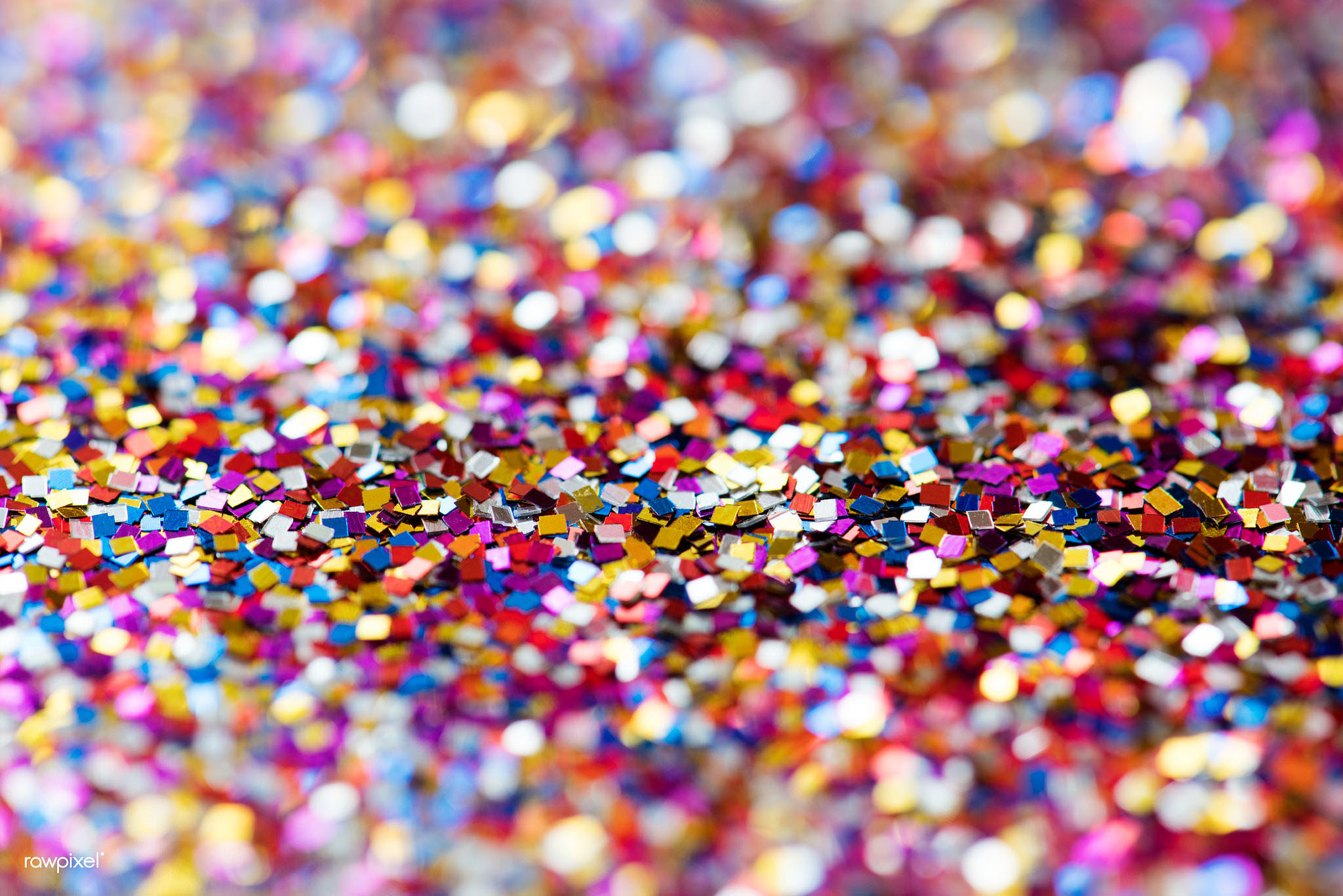 Most glitter is currently made from plastic. (raw pixel.com, Flickr)