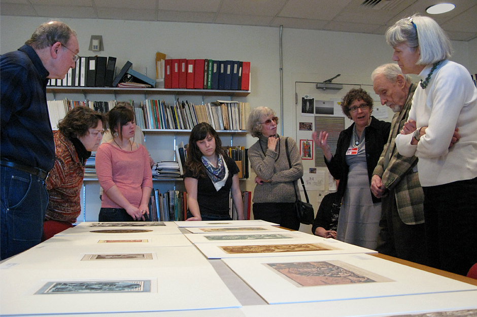 Nan Brewer lectures to participants at the One-Hour Exhibition