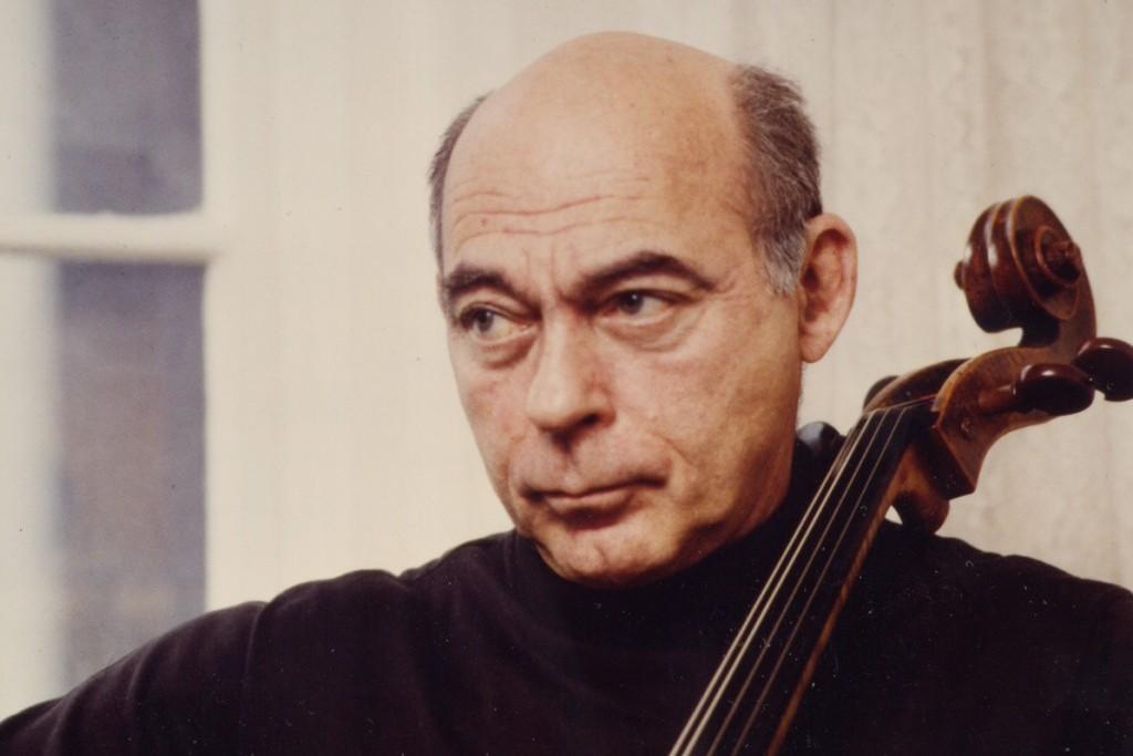 a man with a cello