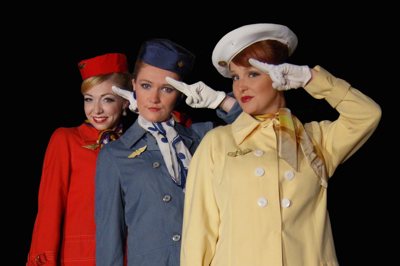 three stewardesses