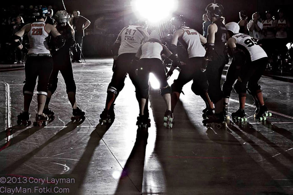 roller derby in shadow