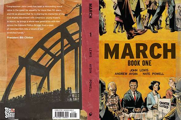 March: Book One illustrated by Nate Powell