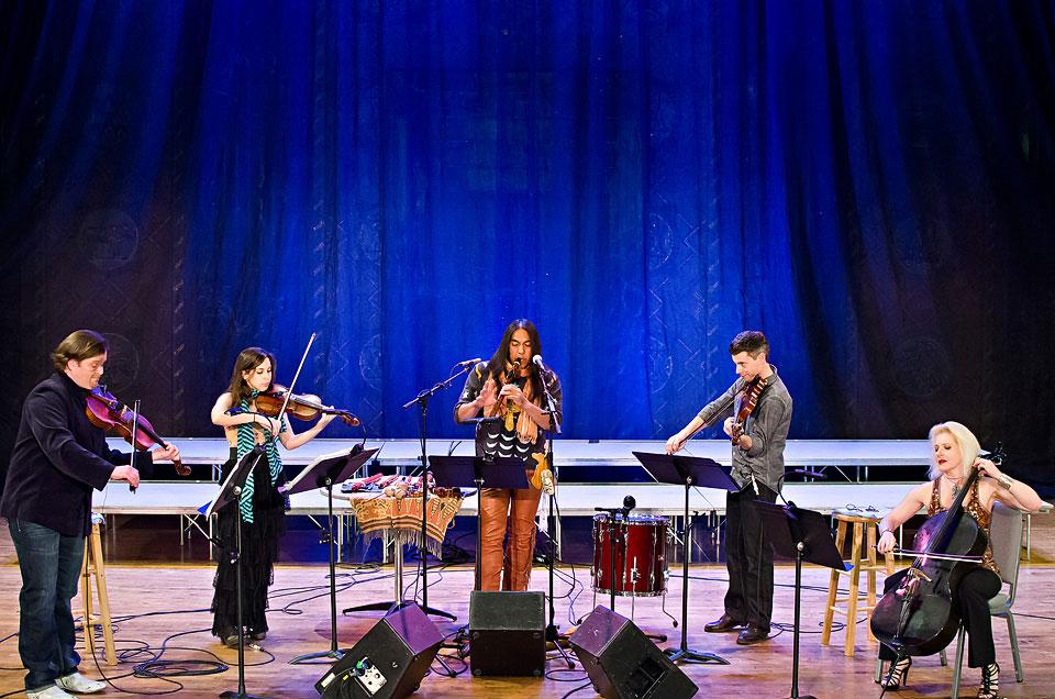 flutist with string quartet