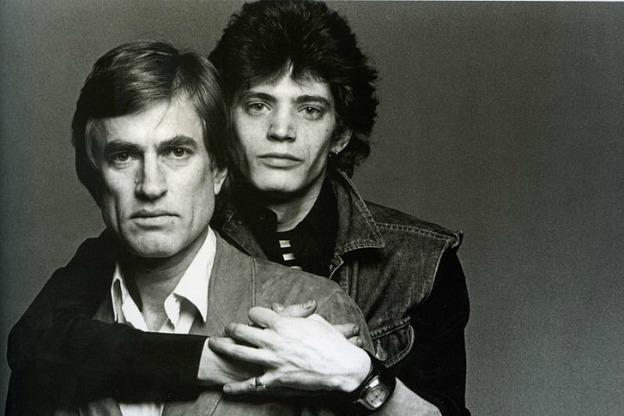Photograph by Francesco Scavullo of Samuel Wagstaff and Robert Mapplethorpe 1974.