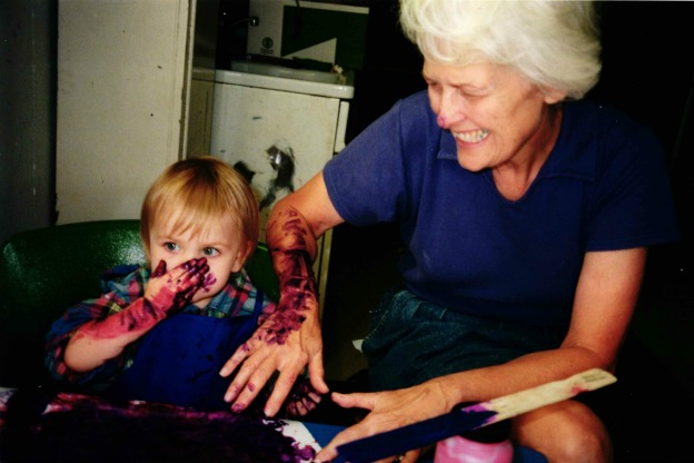 Sandy Wood Taylor and her granddaughter