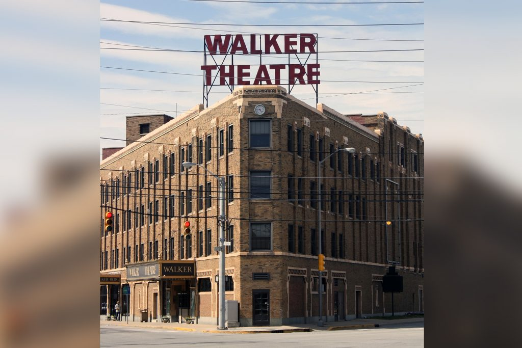 A photograph of the Madame Walker Theatre Center in Indianapolis.