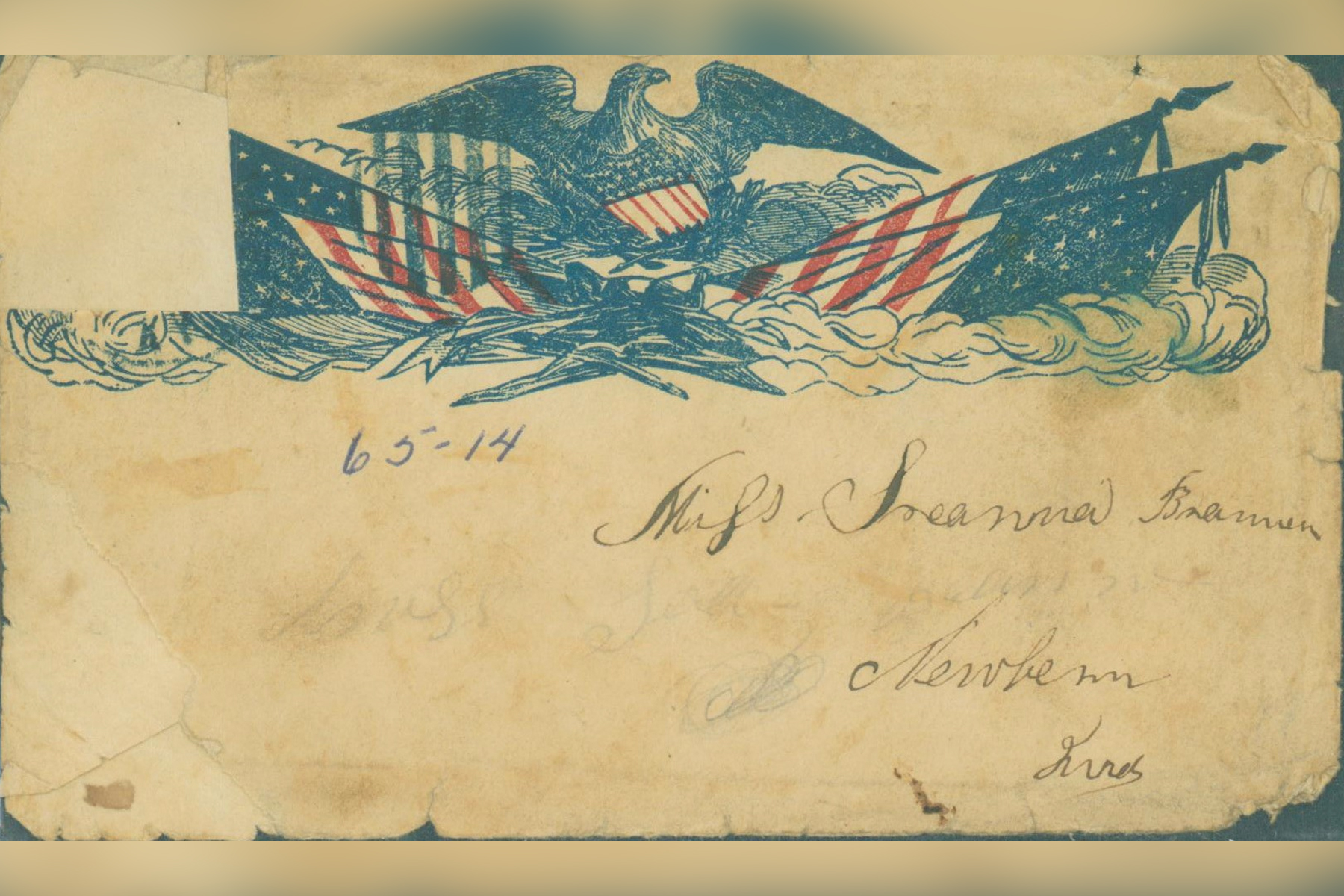 An envelope to a letter sent to Serena Brannon in Howard County.