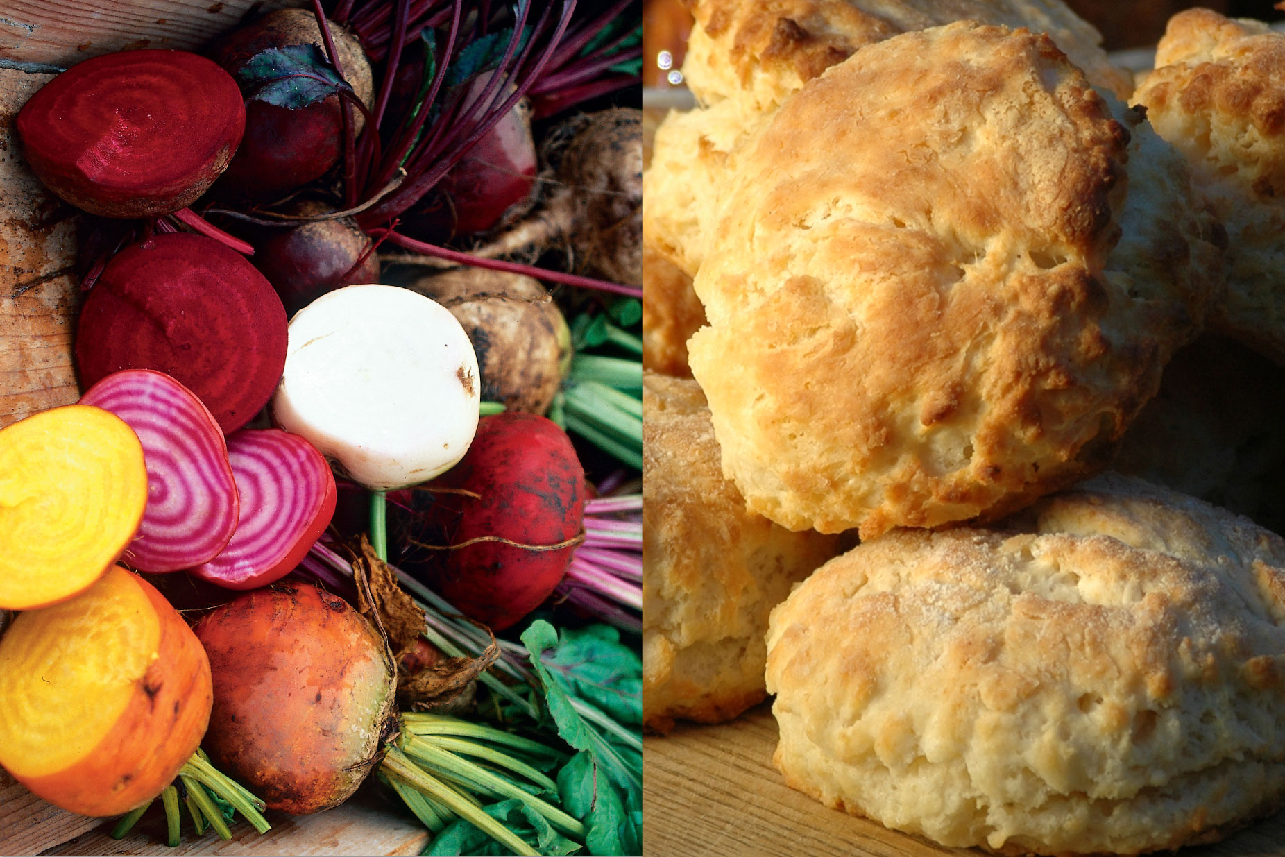 Root Vegetables and Biscuits