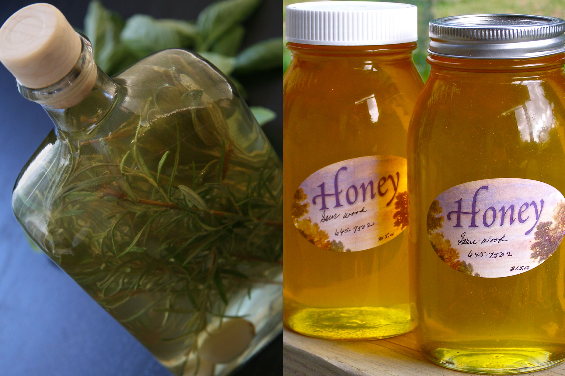 Flavored Vinegar And Honey