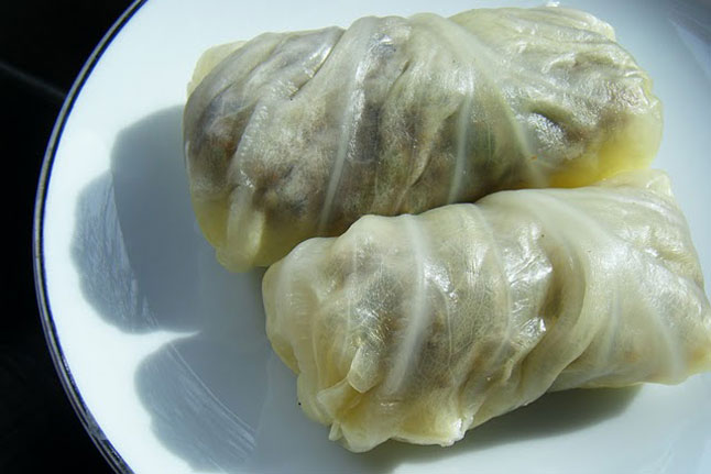 Goat Stuffed Cabbage Leaves
