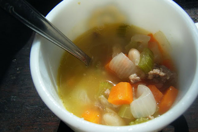 White Bean Soup With Goat Meat