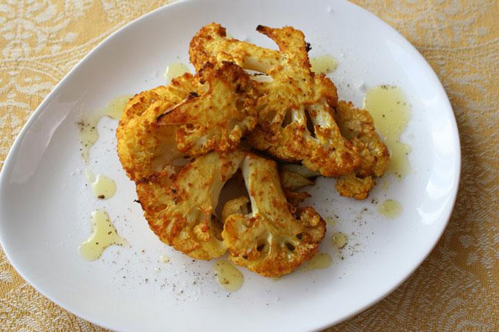Roasted Curried Cauliflower