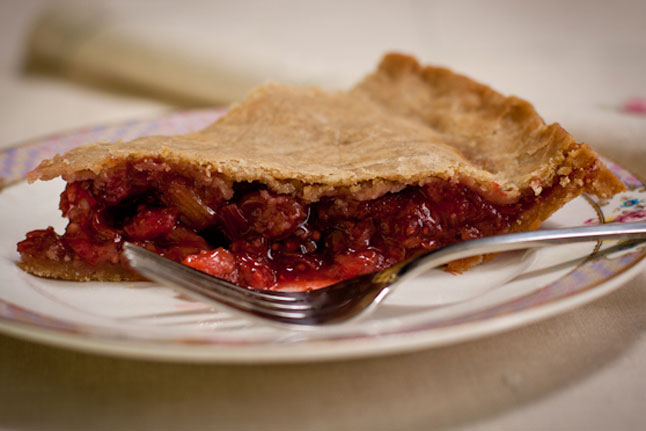 Strawberry Rhubarb Cherry Pie