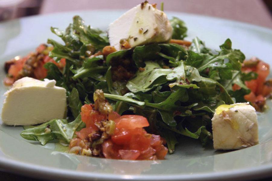 salad with black walnut vinaigrette
