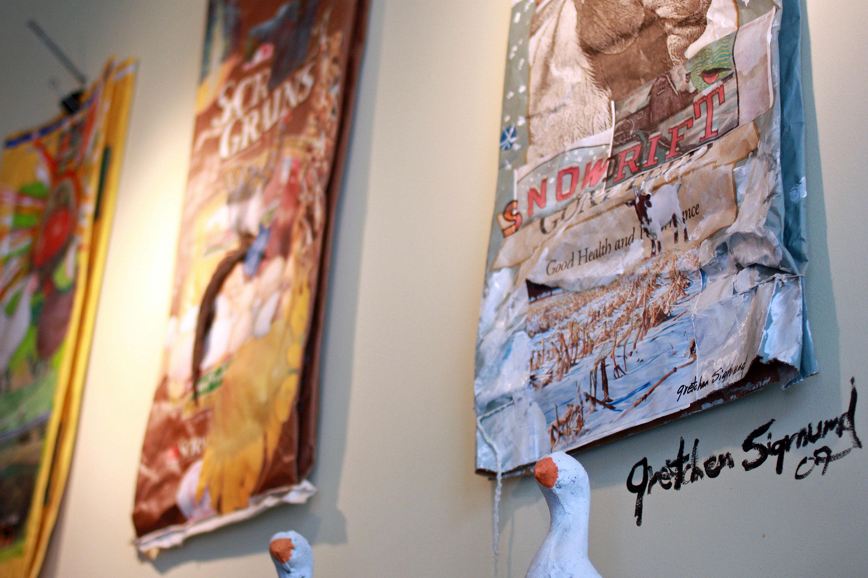 Gretchen Sigmund Marks egg sack art