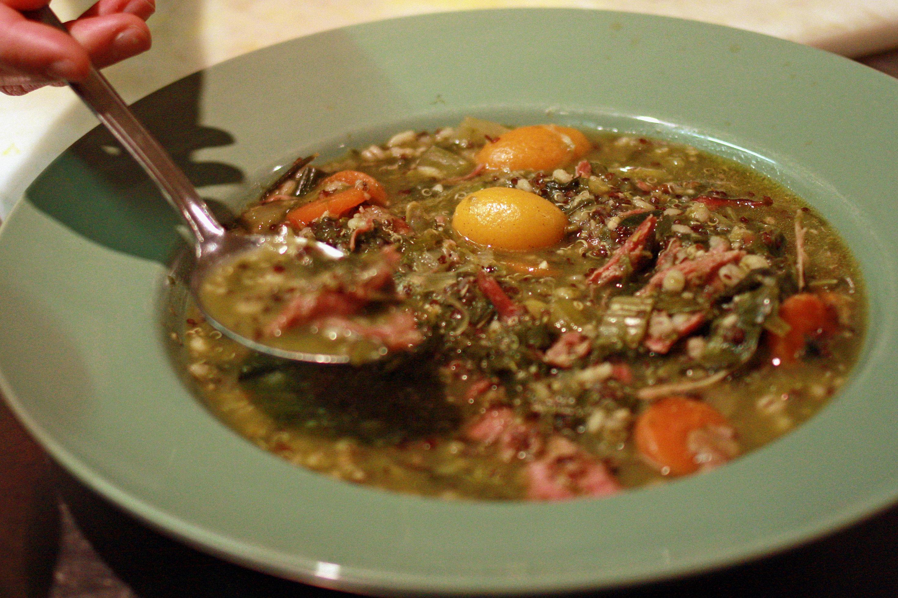 quinoa and turkey stew