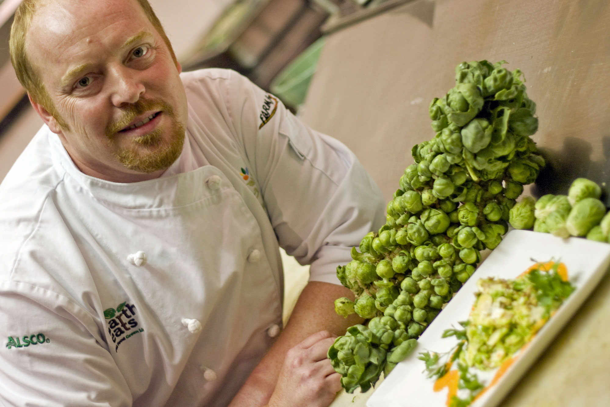 Chef Daniel Orr with Brussel Sprouts Salad