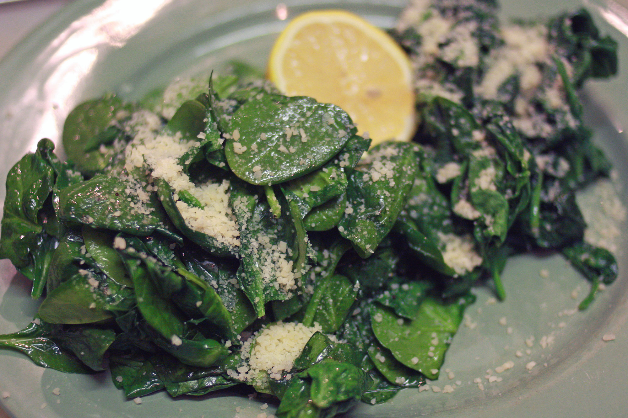 spinach two ways
