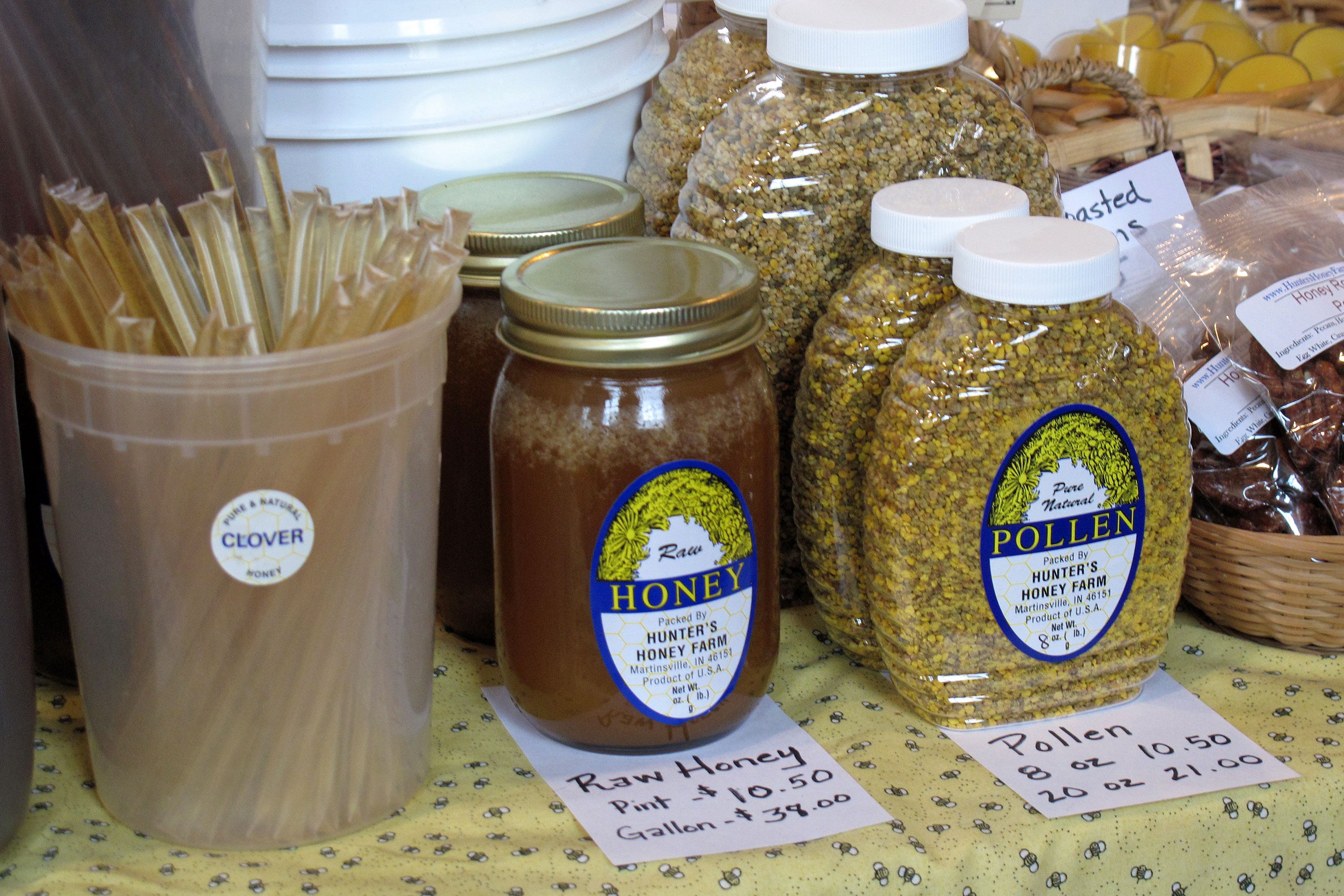 honey products sold by Hunters Honey Farm