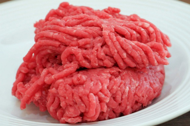 ground beef with pink slime