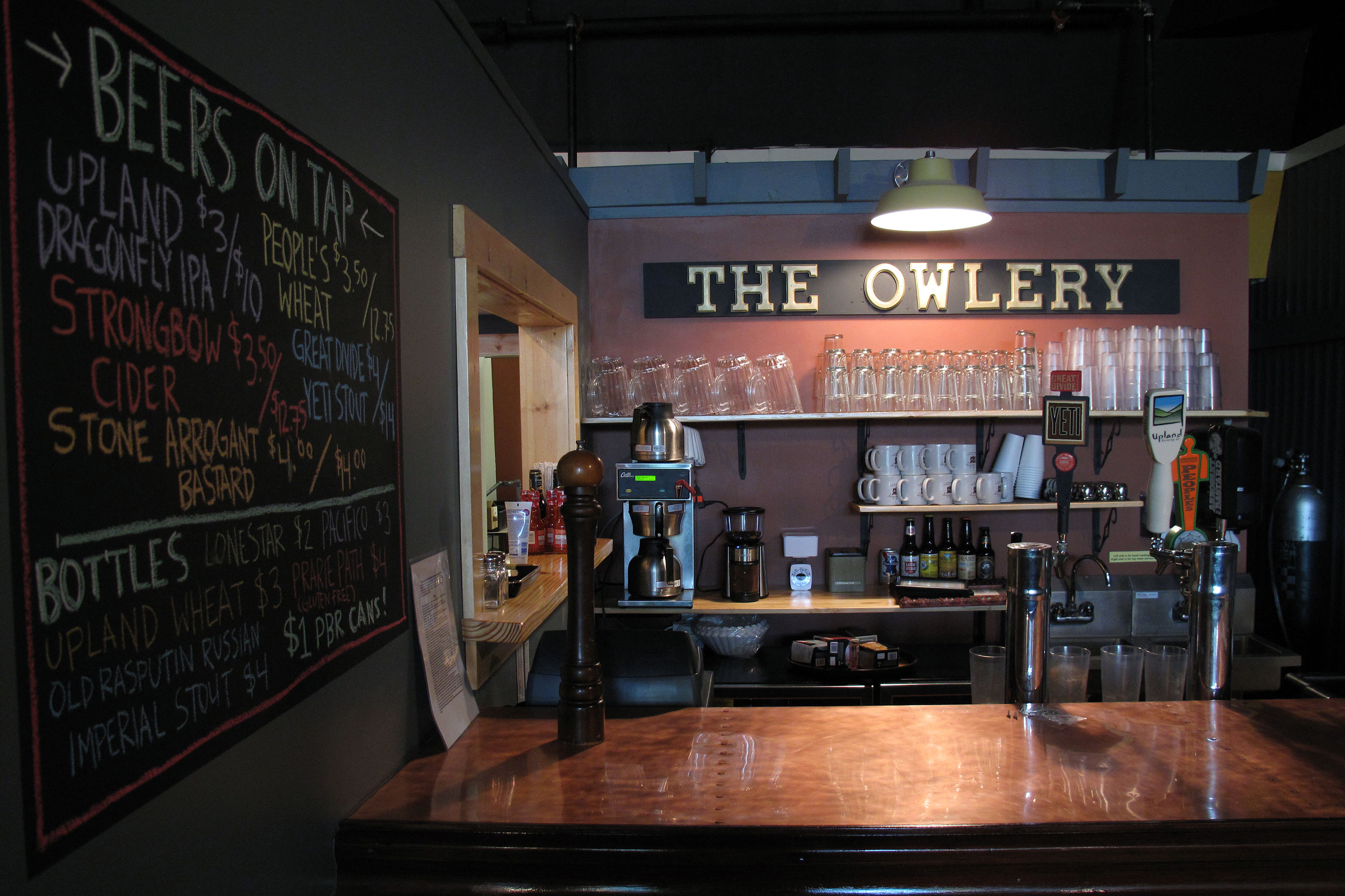 bar at the owlery
