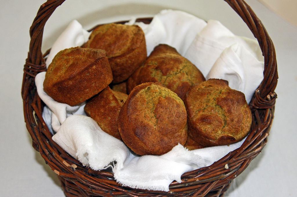 cattail pollen muffins