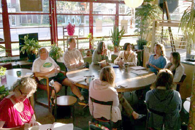 Bloomington residents discuss importance of consuming locally grown food — Photo: Kyle Clayton/WFIU News