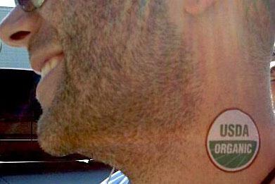 USDA Organic neck stamp