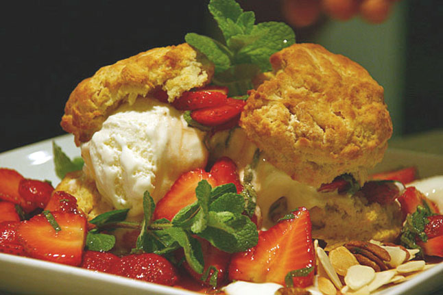 Strawberry Shortcake With Homemade Buttermilk Biscuits And Yogurt