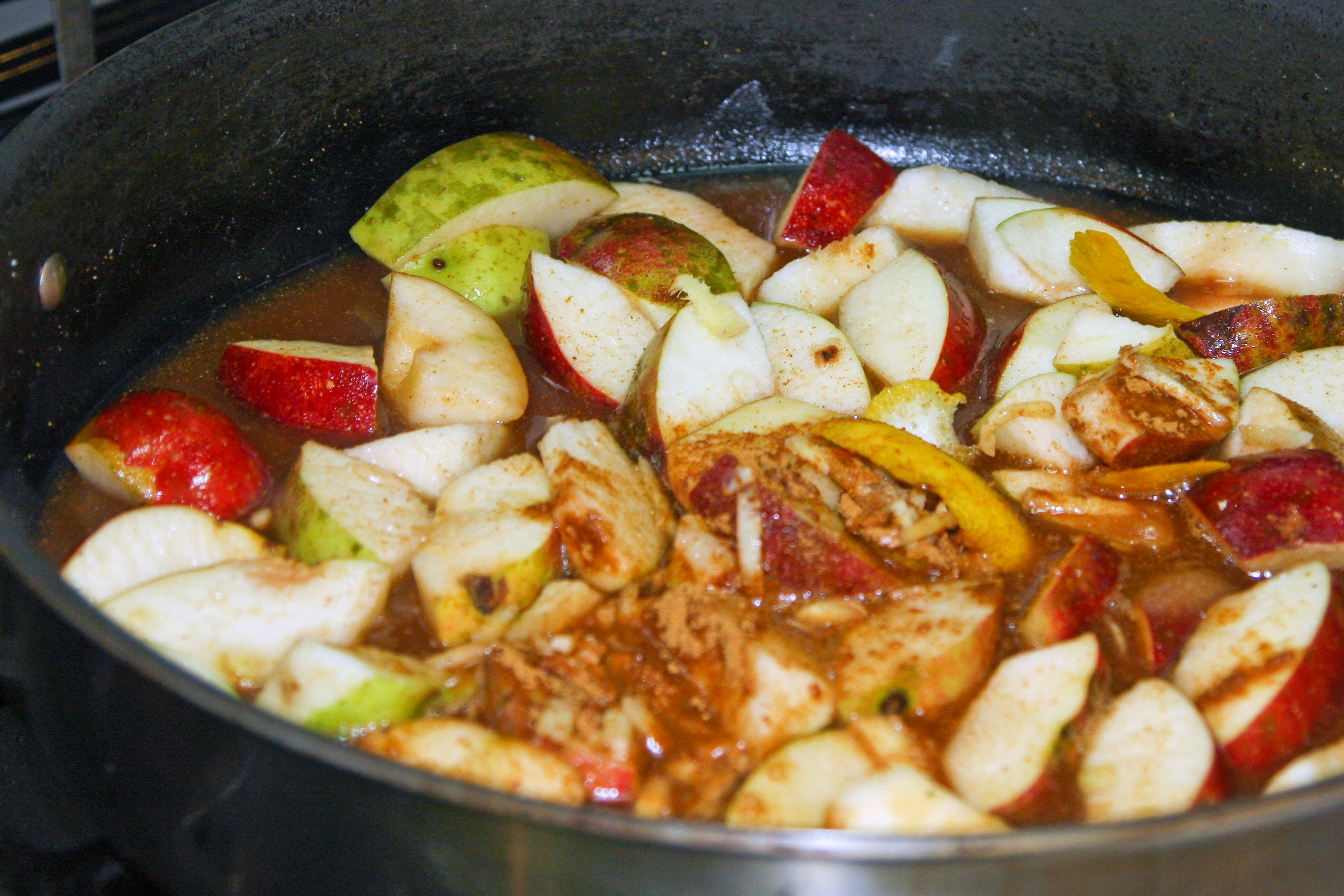 apples and spices cooking for apple butter