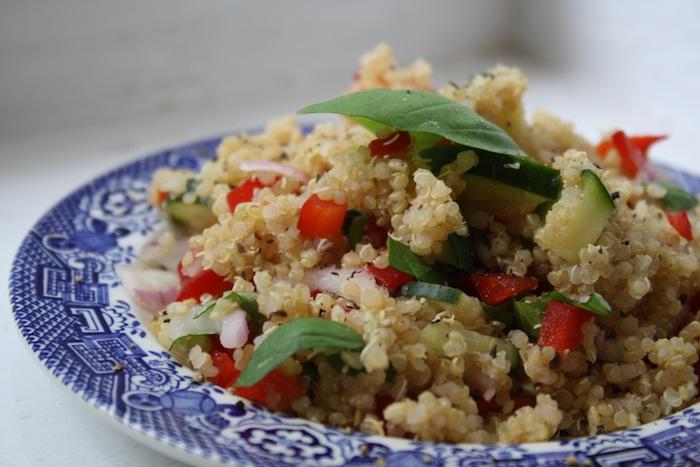 quinoa salad with basil