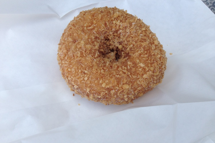 brown sprinkle donut