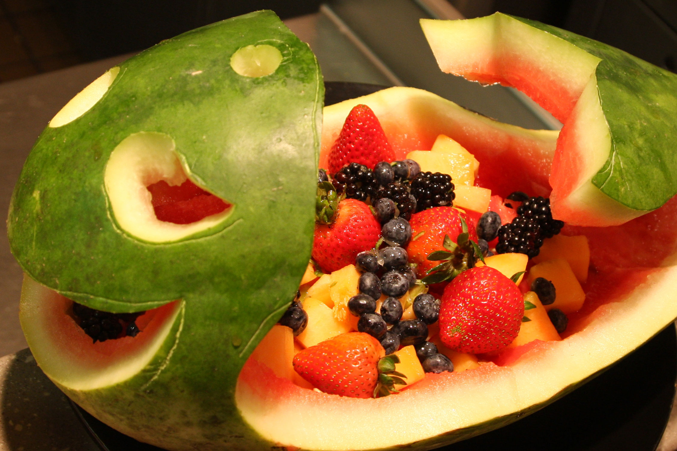 watermelon whale with fruit