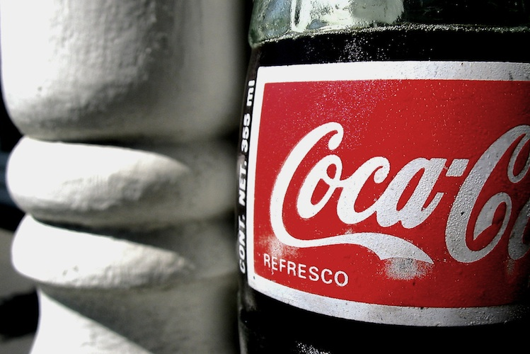 bokeh coke bottle glass